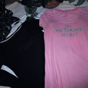 PINK Victoria's Secret Intimates & Sleepwear - 2 Victoria's Secret PINK /BLACK LONG SLEEP TOPS